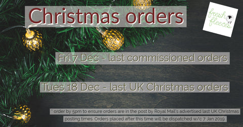 Fresh Fleeces sheep Christmas gifts dates