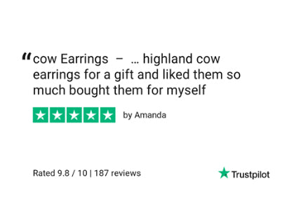 Highland cow earrings review