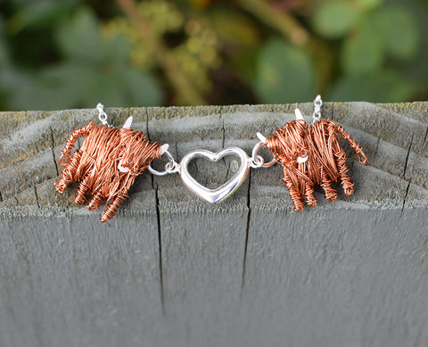 Highland Cow Love Moo necklace