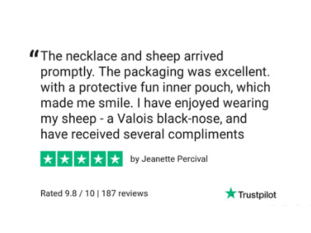 Valais Blacknose sheep necklace review