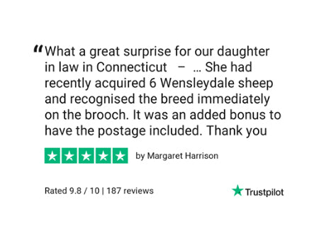 wensleydale sheep brooch review