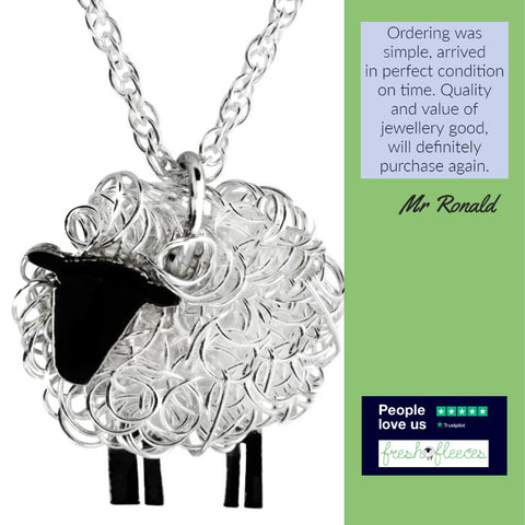 fresh fleeces, sheep jewellery, sheep gifts, sheep presents, silver sheep jewellery, cow jewellery, cow gifts, highland cow jewellery, sheep necklaces