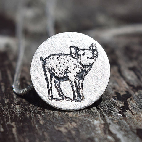 pig jewellery, silver pig gifts, pig presents for woman, pig gifts, silver pig, pig keyring, pig necklace
