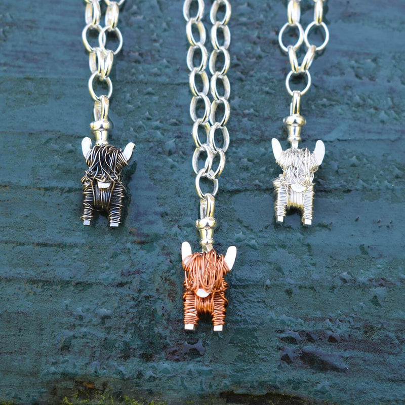 Highland cow charms, highland cow presents for her