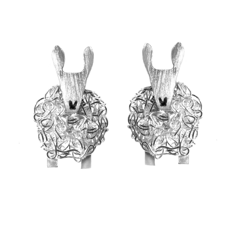 Silver Border Leicester sheep earrings