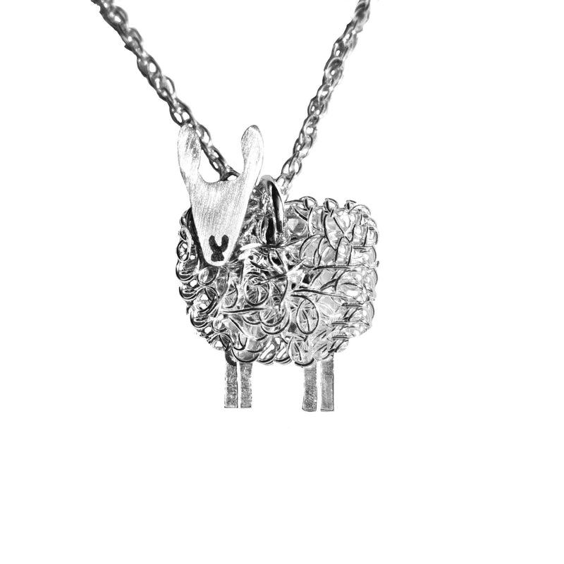 Silver Border Leicester sheep necklace, Border Leicester gift for her