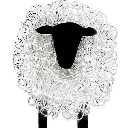 silver sheep brooch, sheep brooch, sheep pin, sheep badge, suffolk sheep gift for woman, suffolk sheep present, handmade silver brooch, animal brooch