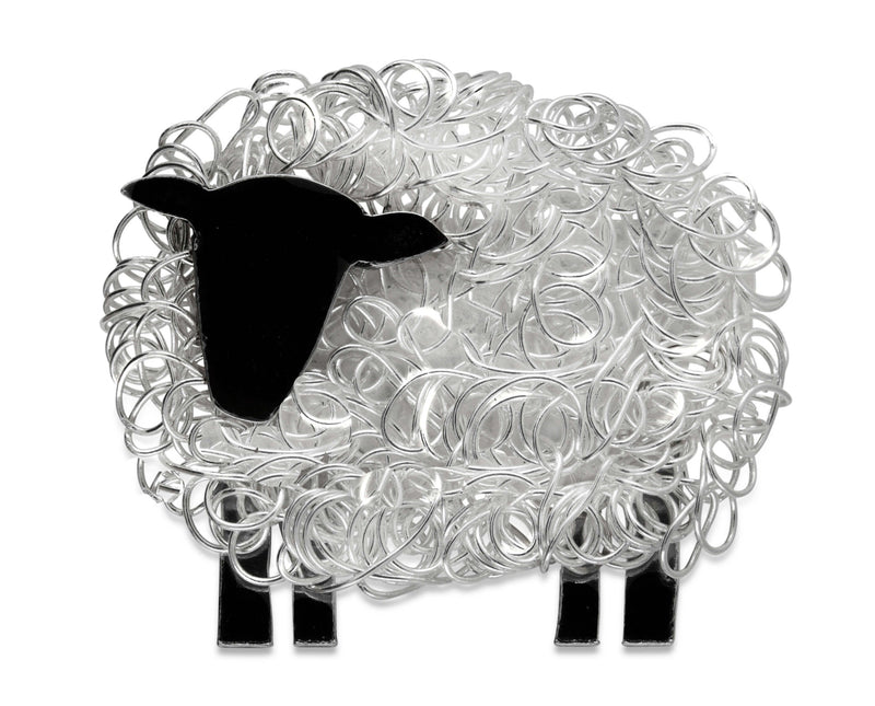 Handcrafted silver Suffolk sheep brooch (facing left) - FreshFleeces, sheep jewellery, sheep jewelry, suffolk sheep gift, suffolk sheep brooch, suffolk sheep jewellery, suffolk sheep jewelry