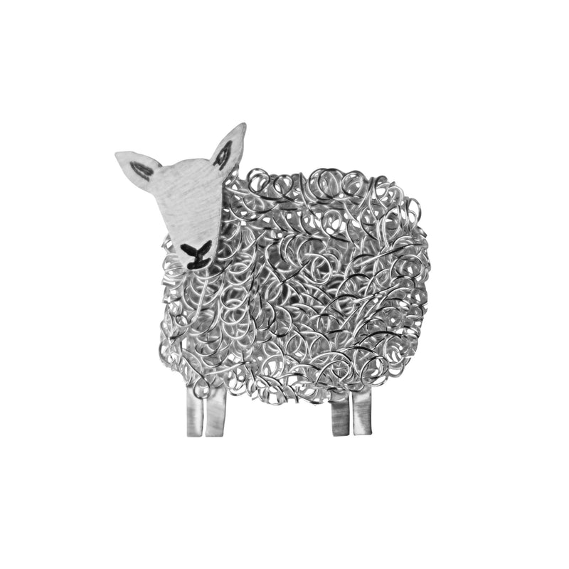Silver Cheviot sheep brooch - FreshFleeces, sheep jewellery, sheep jewelry, cheviot sheep brooch, cheviot sheep jewellery, cheviot sheep jewelry, cheviot sheep gift, cheviot sheep present, silver cheviot sheep, cheviot sheep pin