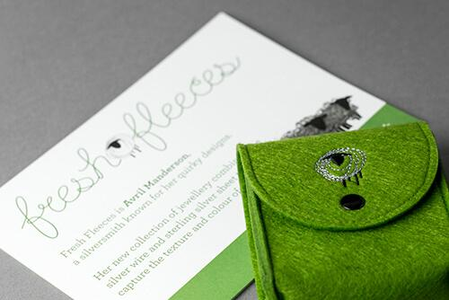 packaging for fresh fleeces highland cow earrings