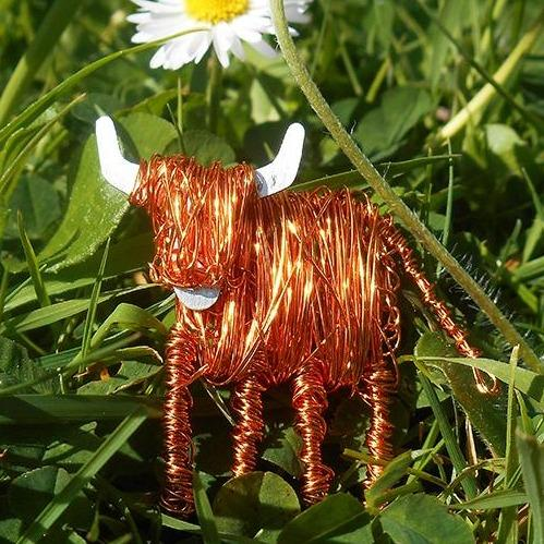 Handcrafted Highland Cow Brooch - FreshFleeces, highland cow jewellery, highland cow brooch, highland cow pin, highland cow jewelry, scottish jewellery, scottish cow jewellery, scottish brooch, scottish pin