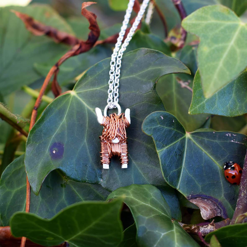 Highland cow jewellery, highland cow present