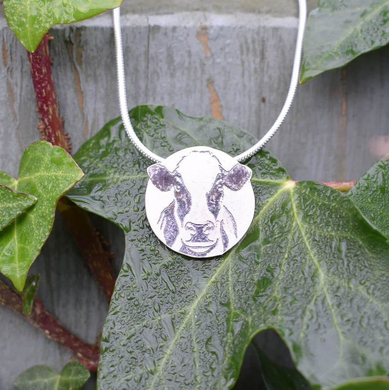 Dairy cow jewellery, Friesian cow necklace