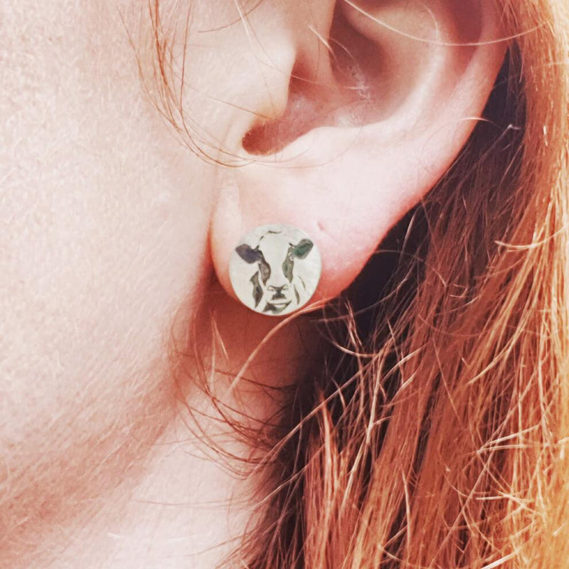 Friesian cow earrings, cow earrings
