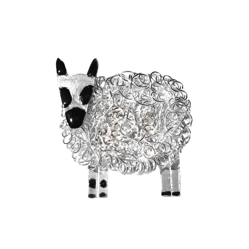Silver Kerry Hill sheep brooch