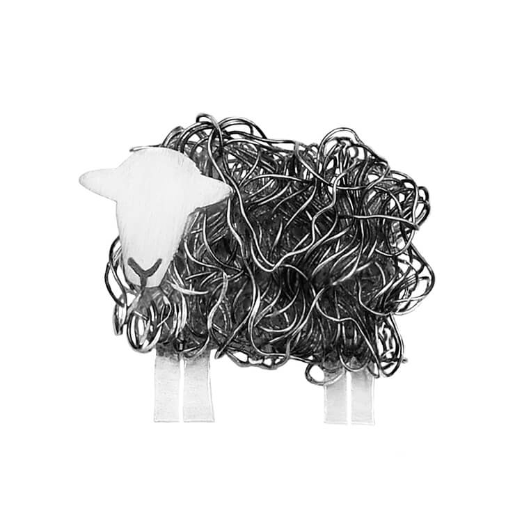 Silver Herdwick sheep brooch - FreshFleeces, Herdwick jewellery, Herdy jewellery, Herdwick jewelry, Cumbri gift for her, Cumbrian jewellery, Cumbrian sheep gift, Herdwick sheep pin, Herdwick sheep present for her, lake district jewellery, lake district gift