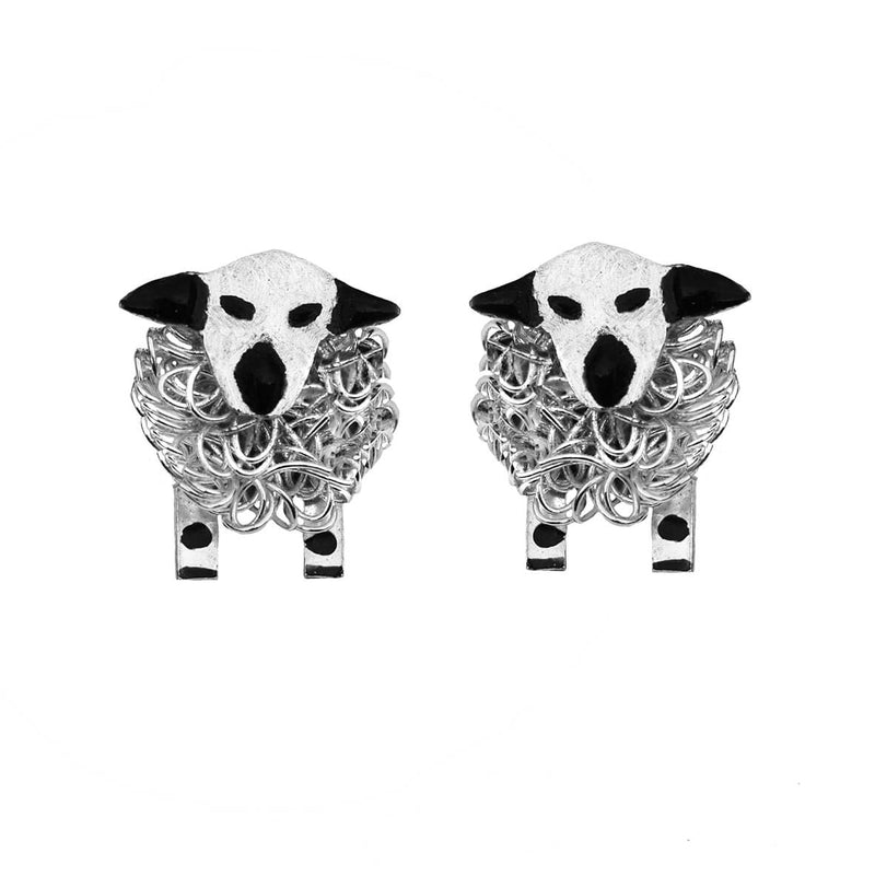 Hampshire down earrings, hampshire down sheep earrings, hampshire down jewellery