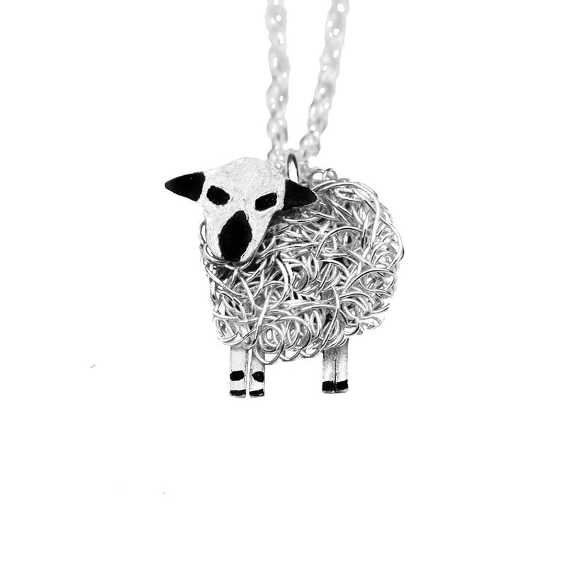 Hampshire Down sheep necklace, hampshire down sheep pendant, hampshire down sheep jewellery
