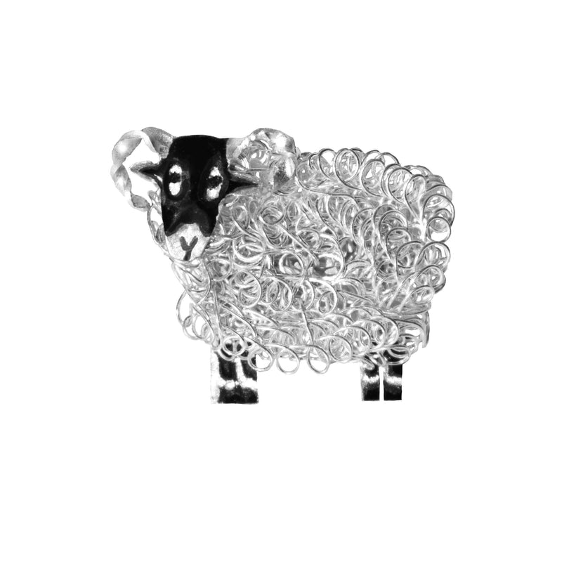 Silver Swaledale sheep jewellery