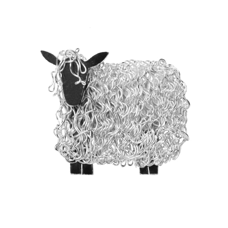 Silver Wensleydale sheep brooch - Fresh Fleeces, wensleydale jewellery, wensleydale sheep jewellery, wensleydale sheep gift, wensleydale sheep jewelry, yorksire sheep jewellery, yorkshire sheep gift, silver wensleydale sheep