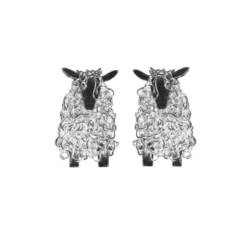 Silver Wensleydale sheep stud earrings - Fresh Fleeces, sheep jewellery, sheep jewelry, sheep earrings, wensleydale sheep gift, wensleydale sheep jewellery, wensleydale sheep jewelry