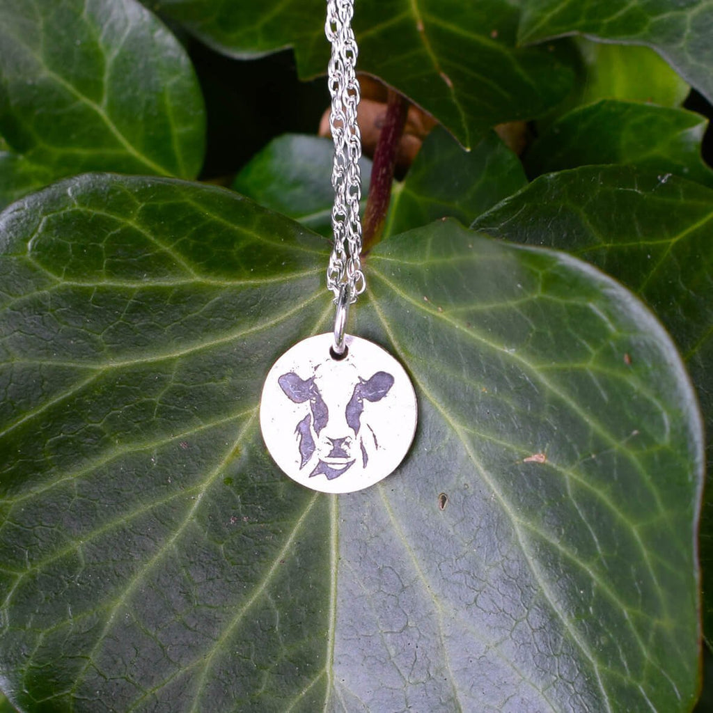 Friesian cow present, cow jewellery, friesian cow necklace, cow gifts
