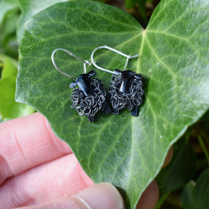 black sheep earrings, black sheep drop earrings, black sheep gift, black sheep present, black  sheep gift, present for black sheep