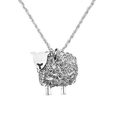 Silver Texel sheep necklace - FreshFleeces, texel sheep jewellery, texel sheep jewelry, texel sheep gift for her, silver texel sheep, texel sheep present