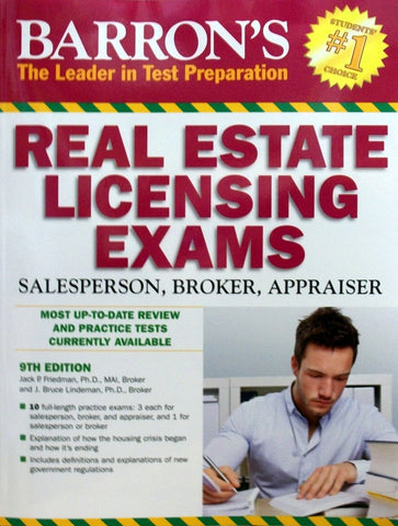 Real Estate Licensing Exams: Salesperson, Broker, Appraiser