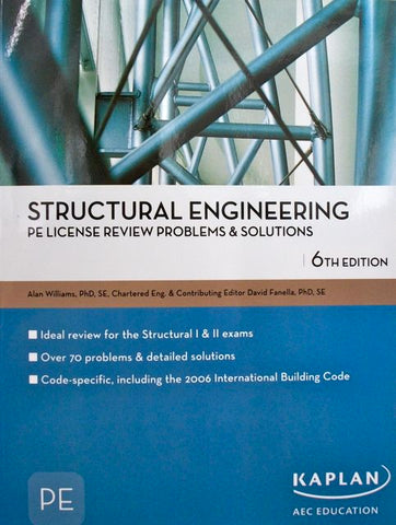 Structural Engineering PE License Review Problems & Solutions