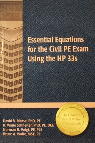 Essential Equations for the Civil PE Exam Using the HP 33s