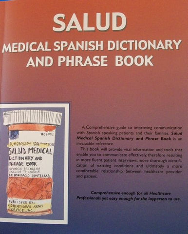 Salud Medical Spanish Dictionary And Phrase Book