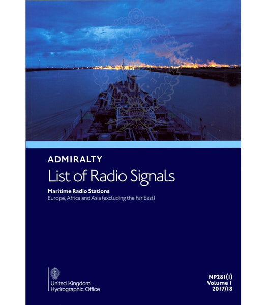 2007/08 Admiralty List of Radio Signals: Maritime Radio Stations Europe, Africa and Asia (excluding the Far East) Volume One (1)