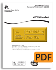 AWWA Standard C515-99: Standard for Reduced-Wall, Resilient-Seated Gate Valves for Water Supply Service