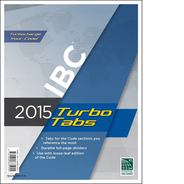 2015 International Building Code Turbo Tabs, Soft Cover, Tabs