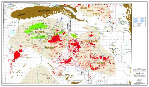 Uinta-Piceance Basins Oil and Gas Production Map