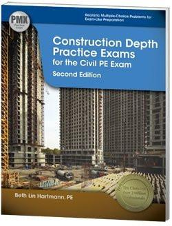 CECNPX2  Construction Depth Practice Exams for the Civil PE Exam