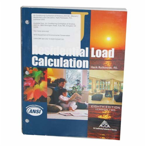 ACCA Manual J 2.0: Residential Load Calculation