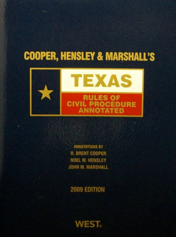 Texas Rules Of Civil Procedure Annotated