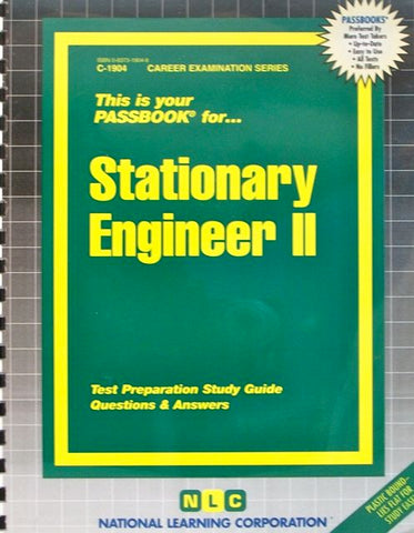 This is your PASSBOOK for... Stationary Engineer II