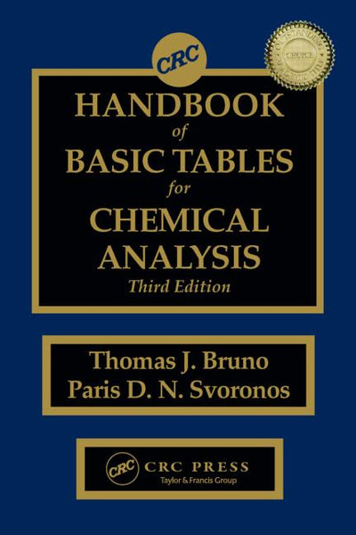 CRC Handbook of Basic Tables for Chemical Analysis, Third Edition