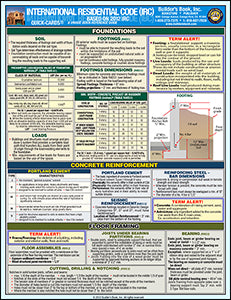 2012 International Residential Code (IRC) Quick-Card