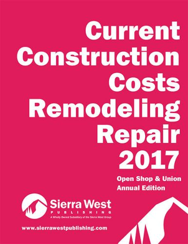 2017 Current Construction Costs Remodeling Repair