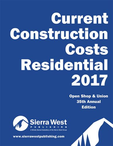 2017 Current Construction Costs Residential