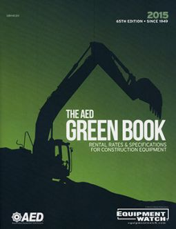 2015 AED Green Book : Rental Rates & Specifications for Construction Equipment 66th Ed.
