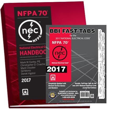 2017 NATIONAL ELECTRICAL CODE (NEC) HANDBOOK AND TABS COMBO