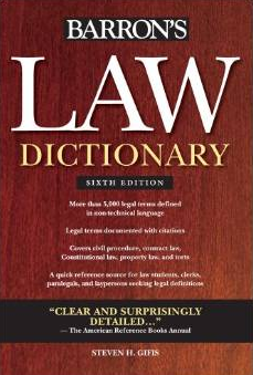 Barron's Law Dictionary, Sixth Edition