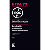 2017 NEC Pocket Guide to Residential Electrical Installations