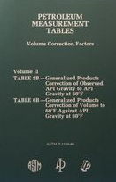 Petroleum Measurement Tables Volume Correction Factors II