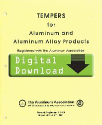 1984 - YELLOW SHEETS Tempers for Aluminum OL